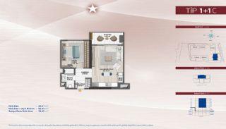 Appartementen aan de zich snelst ontwikkelende straat in Küçükçekmece, Vloer Plannen-13