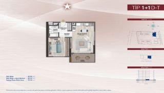 Appartementen aan de zich snelst ontwikkelende straat in Küçükçekmece, Vloer Plannen-14