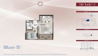 Appartementen aan de zich snelst ontwikkelende straat in Küçükçekmece, Vloer Plannen-17