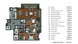 Готовая Недвижимость на Лоне Природы в Районе Бейкоз в Стамбуле, Планировка -1