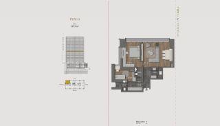 Элитная Недвижимость с Отельной Инфраструктурой в Стамбуле, Планировка -4