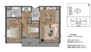 Luxury Apartments Close to the Sea in Beykoz İstanbul, Property Plans-1