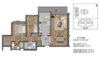 Luxury Apartments Close to the Sea in Beykoz İstanbul, Property Plans-2