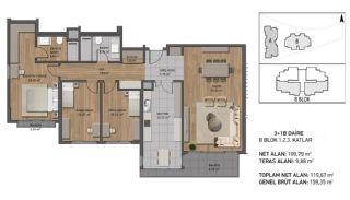 Роскошные Квартиры Рядом с Морем в Бейкозе, Стамбул, Планировка -4