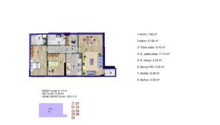 Küçükçekmece Appartementen met Uitzicht op het Meer, Vloer Plannen-1