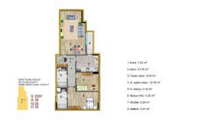 Küçükçekmece Appartementen met Uitzicht op het Meer, Vloer Plannen-2