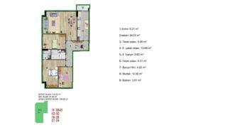 Küçükçekmece Appartementen met Uitzicht op het Meer, Vloer Plannen-3
