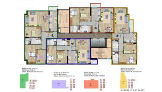 Küçükçekmece Appartementen met Uitzicht op het Meer, Vloer Plannen-5