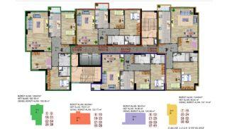 Küçükçekmece Appartementen met Uitzicht op het Meer, Vloer Plannen-6