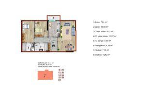 Küçükçekmece Appartementen met Uitzicht op het Meer, Vloer Plannen-7