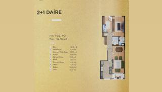Lyxiga lägenheter i Istanbul Beylikdüzü med havsutsikt, Planritningar-1