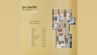 Lyxiga lägenheter i Istanbul Beylikdüzü med havsutsikt, Planritningar-2