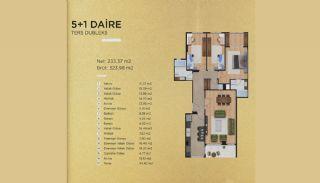 Lyxiga lägenheter i Istanbul Beylikdüzü med havsutsikt, Planritningar-5