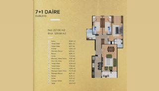 Lyxiga lägenheter i Istanbul Beylikdüzü med havsutsikt, Planritningar-8