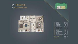 Новые Квартиры в Стамбуле Рядом с Проектом Канала Стамбул, Планировка -1