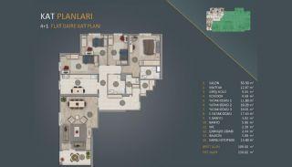 Новые Квартиры в Стамбуле Рядом с Проектом Канала Стамбул, Планировка -3