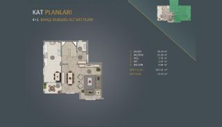Новые Квартиры в Стамбуле Рядом с Проектом Канала Стамбул, Планировка -4