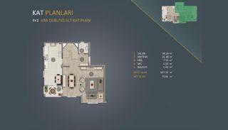 Новые Квартиры в Стамбуле Рядом с Проектом Канала Стамбул, Планировка -6