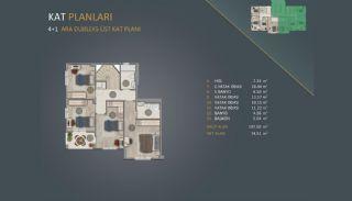 Новые Квартиры в Стамбуле Рядом с Проектом Канала Стамбул, Планировка -7