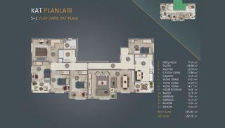 Новые Квартиры в Стамбуле Рядом с Проектом Канала Стамбул, Планировка -8