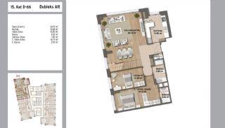 Квартиры в Стамбуле в Малтепе с Видом на Море, Планировка -3