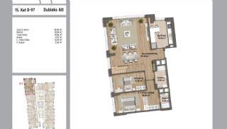 Квартиры в Стамбуле в Малтепе с Видом на Море, Планировка -11