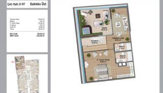 Квартиры в Стамбуле в Малтепе с Видом на Море, Планировка -12