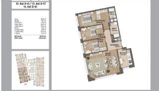 Квартиры в Стамбуле в Малтепе с Видом на Море, Планировка -15