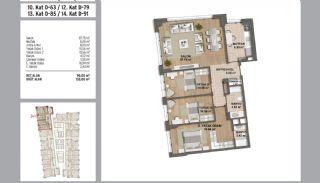 Квартиры в Стамбуле в Малтепе с Видом на Море, Планировка -19