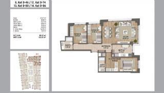 Квартиры в Стамбуле в Малтепе с Видом на Море, Планировка -20