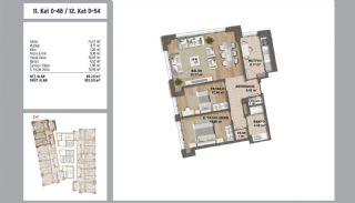 Квартиры в Стамбуле в Малтепе с Видом на Море, Планировка -21