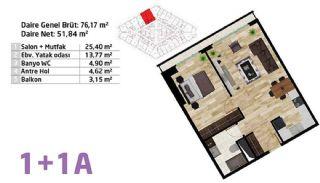 شقق بإطلالة بانورامية على المدينة في مجمع آمن في كاديكوي, مخططات العقار-4