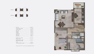 Istanbul lyxfastigheter till salu i ett modernt komplex, Planritningar-5