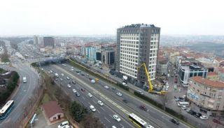 Роскошные Квартиры в Кягытхане в Стамбуле Рядом с Шоссе E-5, Фотографии строительства-7