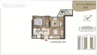 Роскошные Квартиры в Кягытхане в Стамбуле Рядом с Шоссе E-5, Планировка -1