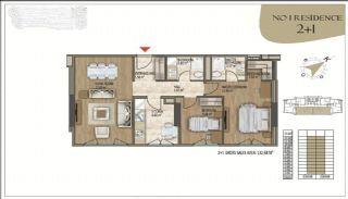 Роскошные Квартиры в Кягытхане в Стамбуле Рядом с Шоссе E-5, Планировка -2