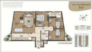 Роскошные Квартиры в Кягытхане в Стамбуле Рядом с Шоссе E-5, Планировка -3