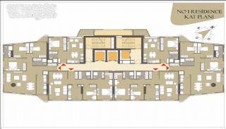 Роскошные Квартиры в Кягытхане в Стамбуле Рядом с Шоссе E-5, Планировка -4