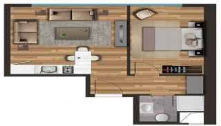 Spacious Apartments on the D-100 Highway in Kartal Istanbul, Property Plans-3