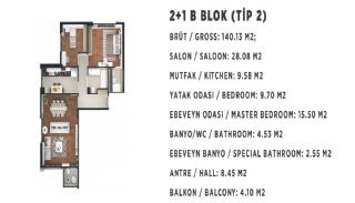 Stadt und Meerblick Nagelneue Wohnungen in Istanbul Türkei, Immobilienplaene-6