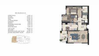 Недвижимость в Стамбуле в Комплексе Семейного Типа, Планировка -1