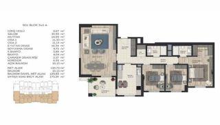 Недвижимость в Стамбуле в Комплексе Семейного Типа, Планировка -10