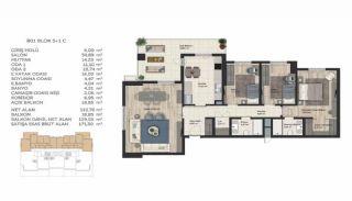 Недвижимость в Стамбуле в Комплексе Семейного Типа, Планировка -12
