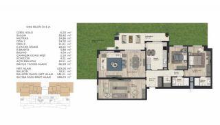 Недвижимость в Стамбуле в Комплексе Семейного Типа, Планировка -13