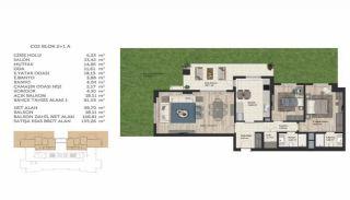 Недвижимость в Стамбуле в Комплексе Семейного Типа, Планировка -14