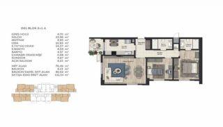 Недвижимость в Стамбуле в Комплексе Семейного Типа, Планировка -15
