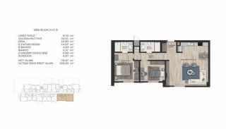 Недвижимость в Стамбуле в Комплексе Семейного Типа, Планировка -17