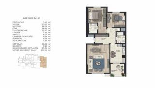 Недвижимость в Стамбуле в Комплексе Семейного Типа, Планировка -4