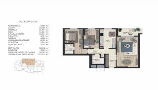 Недвижимость в Стамбуле в Комплексе Семейного Типа, Планировка -6