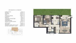 Недвижимость в Стамбуле в Комплексе Семейного Типа, Планировка -7